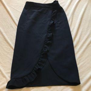 ASOS pencil ruffle skirt size Xs NWT Size 2